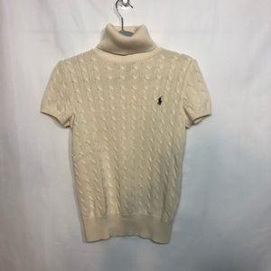 Ralph Lauren  Cozy Cotton Sweater White Size L